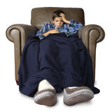 Sick in the big chair Royalty Free Stock Photo