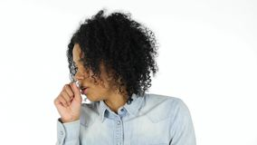 Sick Black Woman Coughing, Cough Royalty Free Stock Photo