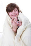Sick boy Stock Photos