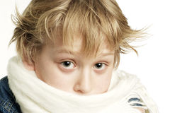 Sick boy Stock Photo