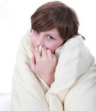 Sick boy child Stock Images