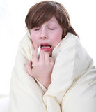 Sick boy child Stock Photography