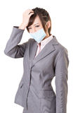 Sick business woman Royalty Free Stock Photo