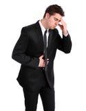 Sick businessman Stock Photo