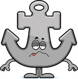 Sick Cartoon Anchor Royalty Free Stock Images