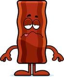 Sick Cartoon Bacon Strip Royalty Free Stock Images