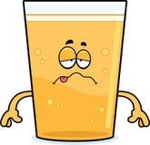 Sick Cartoon Beer Stock Image
