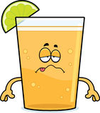 Sick Cartoon Beer with Lime Stock Photography