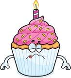 Sick Cartoon Birthday Cupcake Stock Photos