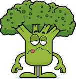 Sick Cartoon Broccoli Stock Image