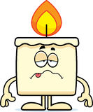 Sick Cartoon Candle Royalty Free Stock Photography