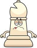 Sick Cartoon Chess Bishop Stock Photography