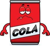Sick Cartoon Cola Can Stock Photo