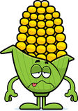 Sick Cartoon Corn Royalty Free Stock Images