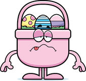 Sick Cartoon Easter Basket Royalty Free Stock Photography