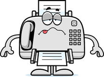Sick Cartoon Fax Machine Royalty Free Stock Image