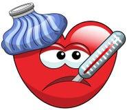 Sick cartoon heart  Royalty Free Stock Photos