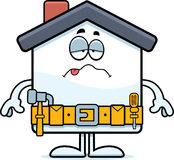 Sick Cartoon Home Improvement Royalty Free Stock Photos