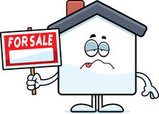 Sick Cartoon Home Sale Stock Photos