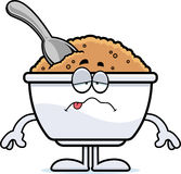 Sick Cartoon Oatmeal Stock Image