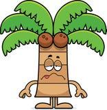 Sick Cartoon Palm Tree Royalty Free Stock Photography