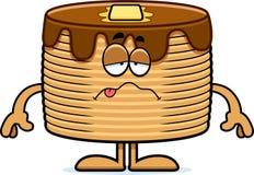 Sick Cartoon Pancakes Stock Images