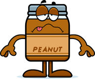 Sick Cartoon Peanut Butter Royalty Free Stock Photography