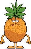 Sick Cartoon Pineapple Stock Image
