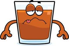 Sick Cartoon Shot Glass Stock Images