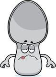 Sick Cartoon Spoon Royalty Free Stock Photography
