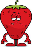 Sick Cartoon Strawberry Stock Image
