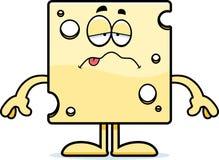 Sick Cartoon Swiss Cheese Stock Image