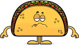 Sick Cartoon Taco Stock Image