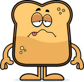 Sick Cartoon Toast Royalty Free Stock Images