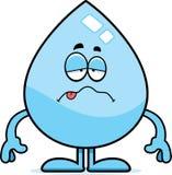 Sick Cartoon Water Drop Royalty Free Stock Photos