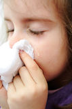 Sick child. And cry kid Stock Image