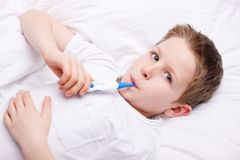 Sick child Royalty Free Stock Photos