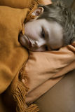 The sick child. Is in bed Stock Photography