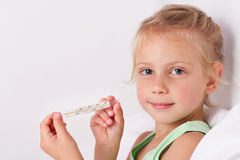 Sick child Stock Images