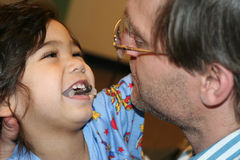 Sick child with father in hospital Royalty Free Stock Photo