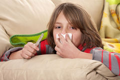 Sick child. And Flu Season Royalty Free Stock Photography