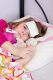 Sick child girl Royalty Free Stock Photography