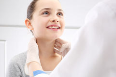 Sick child to the doctor Stock Photos