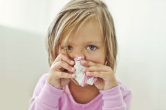 Sick child Stock Photography