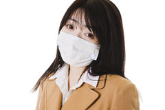 Sick chinese school girl. Royalty Free Stock Images
