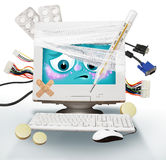 Sick computer Stock Images