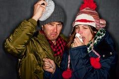 Sick Couple Royalty Free Stock Photo