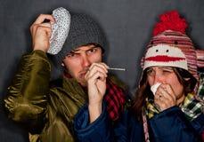 Sick Couple Royalty Free Stock Photos