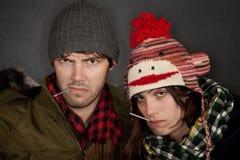 Sick Couple Stock Photo