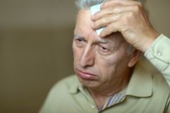 Sick elderly man Royalty Free Stock Photo